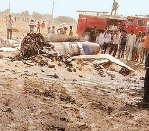 बीकानेर : लड़ाकू विमान मिग 21 क्रैश, पायलट सुरक्षित