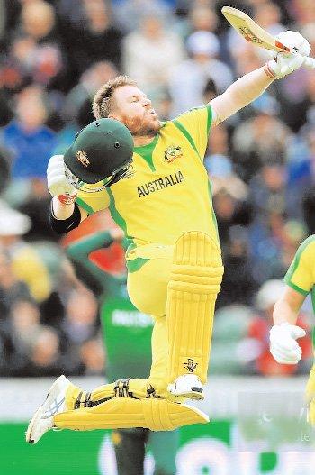 वॉर्नर का 1 साल बाद शतक, आॅस्ट्रेलिया ने पाकिस्तान को लगातार नोवें मैच में हराया