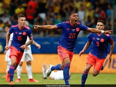 कोपा अमेरिका कप: कोलंबिया ने अर्जेन्टीना को 20 से दी शिकस्त