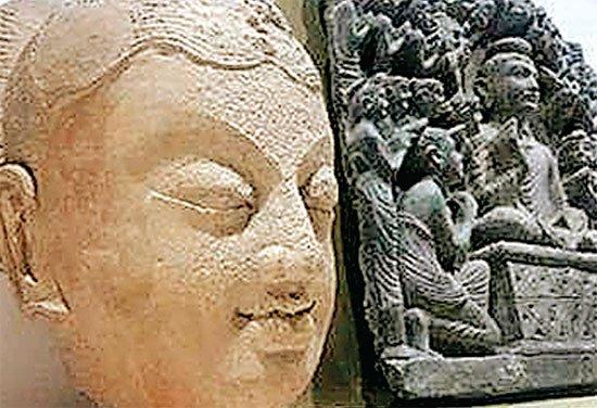पाकिस्तान के म्यूजियम में लगाई गई भगवान बुद्ध की दुर्लभ मूर्ति