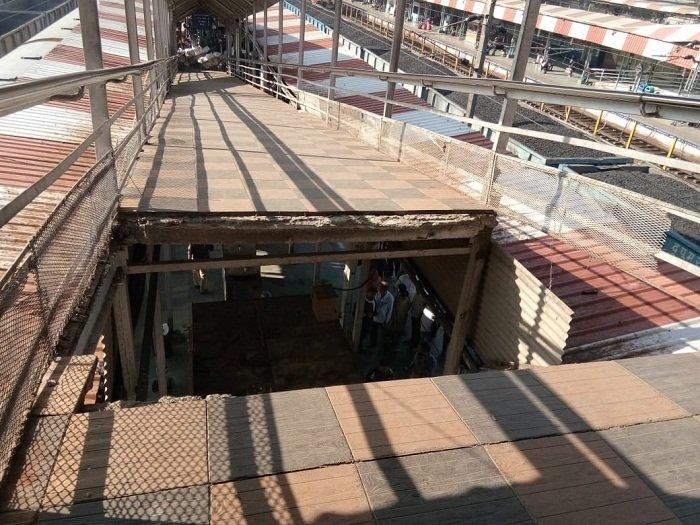 भोपाल रेलवे स्टेशन पर पुल का हिस्सा गिरा, छह यात्री घायल